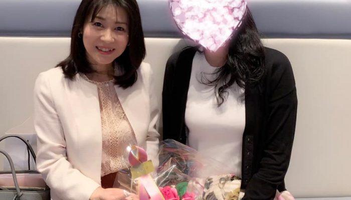 アラフィフ再婚女性と成婚お祝い会 新宿 中野の結婚相談所 大人婚
